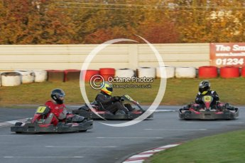 © Octane Photographic Ltd. 2011. Milton Keynes Daytona Karting, Forget-Me-Not Hospice charity racing. Sunday October 30th 2011. Digital Ref : 0194lw7d0739