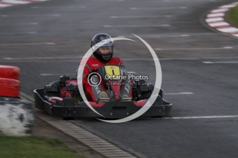 © Octane Photographic Ltd. 2011. Milton Keynes Daytona Karting, Forget-Me-Not Hospice charity racing. Sunday October 30th 2011. Digital Ref : 0194lw7d1191