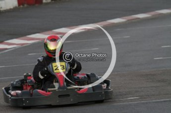 © Octane Photographic Ltd. 2011. Milton Keynes Daytona Karting, Forget-Me-Not Hospice charity racing. Sunday October 30th 2011. Digital Ref : 0194lw7d1221