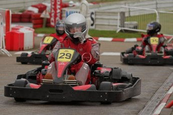 © Octane Photographic Ltd. 2011. Milton Keynes Daytona Karting, Forget-Me-Not Hospice charity racing. Sunday October 30th 2011. Digital Ref : 0194lw7d9414