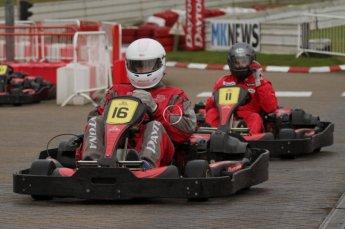 © Octane Photographic Ltd. 2011. Milton Keynes Daytona Karting, Forget-Me-Not Hospice charity racing. Sunday October 30th 2011. Digital Ref : 0194lw7d9506