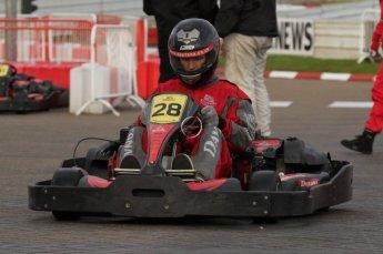 © Octane Photographic Ltd. 2011. Milton Keynes Daytona Karting, Forget-Me-Not Hospice charity racing. Sunday October 30th 2011. Digital Ref : 0194lw7d9999