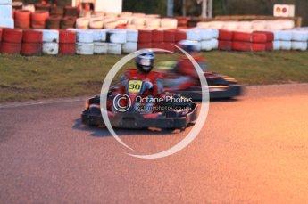 © Octane Photographic Ltd. 2011. Milton Keynes Daytona Karting, Forget-Me-Not Hospice charity racing. Sunday October 30th 2011. Digital Ref : 0194cb7d7971
