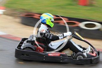 © Octane Photographic Ltd. 2011. Milton Keynes Daytona Karting, Forget-Me-Not Hospice charity racing. Sunday October 30th 2011. Digital Ref : 0194cb7d8436
