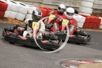 © Octane Photographic Ltd. 2011. Milton Keynes Daytona Karting, Forget-Me-Not Hospice charity racing. Sunday October 30th 2011. Digital Ref : 0194cb7d9001