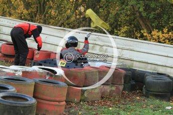 © Octane Photographic Ltd. 2011. Milton Keynes Daytona Karting, Forget-Me-Not Hospice charity racing. Sunday October 30th 2011. Digital Ref : 0194cb7d9382