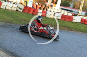 © Octane Photographic Ltd. 2011. Milton Keynes Daytona Karting, Forget-Me-Not Hospice charity racing. Sunday October 30th 2011. Digital Ref : 0194cb7d9483