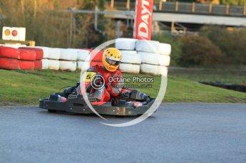 © Octane Photographic Ltd. 2011. Milton Keynes Daytona Karting, Forget-Me-Not Hospice charity racing. Sunday October 30th 2011. Digital Ref : 0194cb7d9505