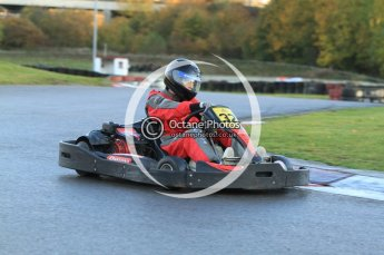 © Octane Photographic Ltd. 2011. Milton Keynes Daytona Karting, Forget-Me-Not Hospice charity racing. Sunday October 30th 2011. Digital Ref : 0194cb7d9542