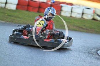 © Octane Photographic Ltd. 2011. Milton Keynes Daytona Karting, Forget-Me-Not Hospice charity racing. Sunday October 30th 2011. Digital Ref : 0194cb7d9730