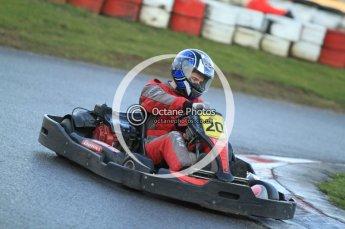 © Octane Photographic Ltd. 2011. Milton Keynes Daytona Karting, Forget-Me-Not Hospice charity racing. Sunday October 30th 2011. Digital Ref : 0194cb7d9765