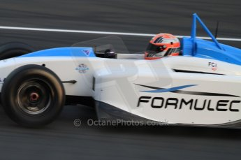 © Octane Photographic 2011. Le Mans night qualifying 9th June 2011. La Sarthe, France. Formulec electric racing car demo laps. Digital Ref : 0077CB7D0375