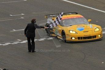 © Octane Photographic 2011. Le Mans finish line and podium - Sunday 11th June 2011. La Sarthe, France. Digital Ref : 0263lw7d7671