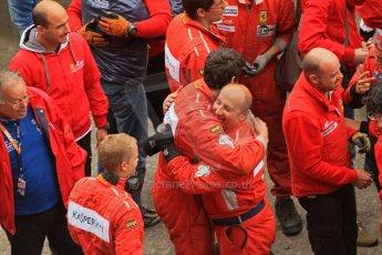 © Octane Photographic 2011. Le Mans finish line and podium - Sunday 11th June 2011. La Sarthe, France. Digital Ref : 0263lw7d7770
