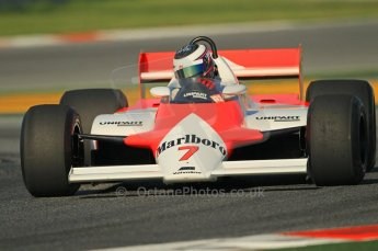 © Octane Photographic Ltd. 2011 Masters Racing Espiritu de Montjuic, April 8th 2011. McLaren MP4/1. Grand Prix masters, Historic Formula 1 racing. Digital Ref : 0042CB1D0250