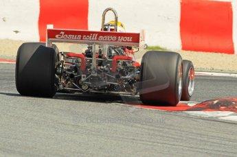 © Octane Photographic Ltd. 2011 Masters Racing Espiritu de Montjuic, April 10th 2011. Grand Prix masters, Historic Formula 1 racing. Digital Ref : 0042CB1D1322