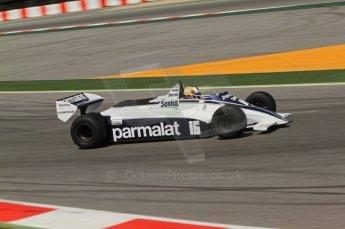 © Octane Photographic Ltd. 2011 Masters Racing Espiritu de Montjuic, April 10th 2011. Grand Prix masters, Historic Formula 1 racing. Digital Ref : 0042CB7D1084