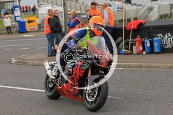 © Octane Photographic 2011. NW200, 17th May 2011 Newcomers practice. Medical bike. Digital ref : LW7D9122