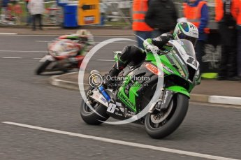 © Octane Photographic 2011. NW200, 17th May 2011 Superbike practice. Stuart Easton, Kawasaki - MSS Colchester Kawasaki. Digital ref :