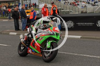 © Octane Photographic 2011. NW200, 17th May 2011 Supersport practice. Michael Dunlop, Kawasaki - Street Sweep. Digital ref : LW7D0561