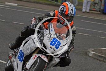 © Octane Photographic 2011. NW200, 17th May 2011 Supersport practice. Adam Child, Suzuki - Ken Urwin M/cycles / MCN. Digital ref : LW7D1194