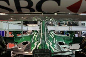 World © Octane Photographic Ltd. Race Retro 25th February 2011. Historic F1 cars. Jaguar R1 - Eddie Irvine. Digital Ref : 0644cb7d1728