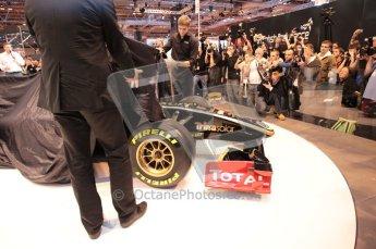 Autosport International 2011. Renault 2011 livery launch. Digital ref : 0046CB1D5927