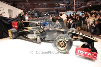 Autosport International 2011. Renault 2011 livery launch. Digital ref : 0046CB1D5963