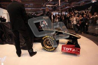 Autosport International 2011. Renault 2011 livery launch. Digital ref : 0046CB1D5930