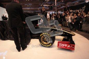 Autosport International 2011. Renault 2011 livery launch. Digital ref : 0046CB1D5932