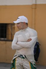 © Octane Photographic Ltd. 2011. European Formula1 GP - Valencia, Saturday 25th June 2011. GP3 Qualifying drivers holding area, Valtteri Bottas. Digital Ref:  0088CB1D7583