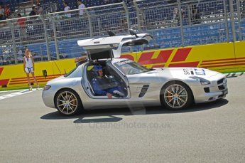 © Octane Photographic Ltd. 2011. European Formula1 GP, Saturday 25th June 2011. GP2 Race 1. Mercedes AMG SLS FIA Safety Car. Digital Ref: 0085CB1D7872