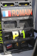 © Octane Photographic Ltd. 2011. European Formula1 GP, Saturday 25th June 2011. GP2 Race 1. Romain Grosjean's winners pitboard. Digital Ref: 0085CB1D8168