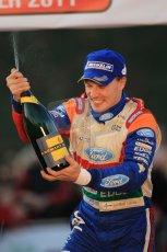 © North One Sport Ltd 2011 / Octane Photographic Ltd 2011. 13th November 2011 Wales Rally GB, Podium. Jari-Matti Latvalla sprays his victory Champagne. Digital Ref : 0201cb1d9956