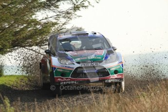 © North One Sport Ltd 2011 / Octane Photographic Ltd 2011. 13th November 2011 Wales Rally GB, WRC SS21 Halfway. Evgeny Novikov and Denis Giraudet in their Ford Fiesta RS WRC. Digital Ref : 0200LW7D8747