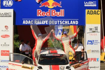 © North One Sport Ltd.2011/Octane Photographic Ltd. WRC Germany – Final Podium - Sunday 21st August 2011. Ott Tanak and Kuldar Sikk - Ford Fiesta S2000. Digital Ref : 0153CB1D6265