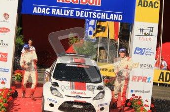 © North One Sport Ltd.2011/Octane Photographic Ltd. WRC Germany – Final Podium - Sunday 21st August 2011. Ott Tanak and Kuldar Sikk - Ford Fiesta S2000. Digital Ref : 0153CB1D6269