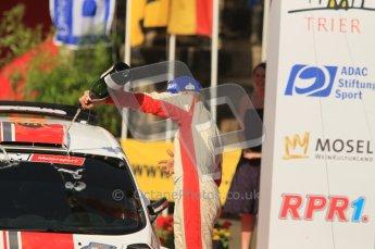 © North One Sport Ltd.2011/Octane Photographic Ltd. WRC Germany – Final Podium - Sunday 21st August 2011. Ott Tanak - Ford Fiesta S2000. Digital Ref : 0153CB1D6274