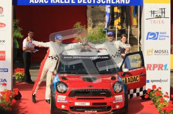 © North One Sport Ltd.2011/Octane Photographic Ltd. WRC Germany – Final Podium - Sunday 21st August 2011. Daniel Sordo and Carlos Corral - Mini John Cooper Works. Digital Ref : 0153CB1D6371