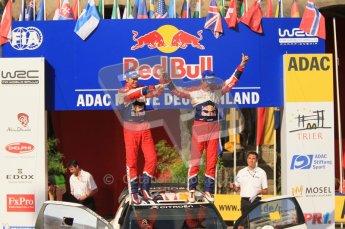 © North One Sport Ltd.2011/Octane Photographic Ltd. WRC Germany – Final Podium - Sunday 21st August 2011. Sebastien Ogier and Julian Ingrassia - Citroen DS3 WRC. Digital Ref : 0153CB1D6405
