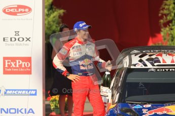 © North One Sport Ltd.2011/Octane Photographic Ltd. WRC Germany – Final Podium - Sunday 21st August 2011. Julian Ingrassia - Citroen DS3 WRC. Digital Ref : 0153CB1D6408
