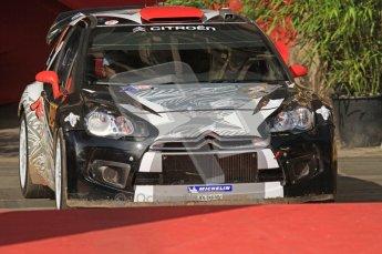 © North One Sport Ltd.2011/Octane Photographic Ltd. WRC Germany – Final Podium - Sunday 21st August 2011. Kimi Raikkonen and Kaj Lindstrom - Citroen DS3 WRC. Digital Ref : 0153LW7D0015