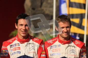 © North One Sport Ltd.2011/Octane Photographic Ltd. WRC Germany – Final Podium - Sunday 21st August 2011. Sebastien Ogier and Julien Ingrassia (Citroen). Digital Ref : 0153LW7D0152