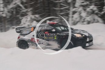© North One Sport Limited 2011/Octane Photographic Ltd. 2011 WRC Sweden shakedown stage, Thursday 10th February 2011, Kimi Raikkonen/Kaj Lindstrom, Citroen DS3 WRC - Ice One Racing. Digital ref : 0126CB1D0169