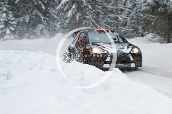 © North One Sport Limited 2011/Octane Photographic Ltd. 2011 WRC Sweden shakedown stage, Thursday 10th February 2011, Kimi Raikkonen/Kaj Lindstrom, Citroen DS3 WRC - Ice One Racing. Digital ref : 0126LW7D8234