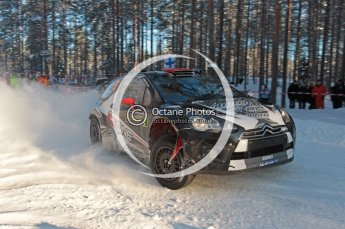 ©  North One Sport Limited 2011/Octane Photographic. 2011 WRC Sweden SS10 Fredericksberg, Saturday 12th February 2011, Kimi Raikkonen/Kaj Lindstrom, Citroen DS3 WRC. Digital ref : 0142CB1D7350