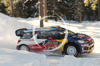 © North One Sport Limited 2011/Octane Photographic. 2011 WRC Sweden SS12 Lechfors II, Saturday 12th February 2011, Sebastien Loeb/Daniel Elena, Citroen DS3 WRC. Digital ref : 0143CB1D7595