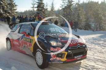 © North One Sport Limited 2011/Octane Photographic Ltd. 2011 WRC Sweden SS5 Vargassen lI, Friday 11th February 2011, Sebastien Loeb/Daniel Elena, Citroen DS3 WRC. Digital ref : 0141CB1D6966
