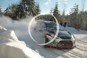 ©  North One Sport Limited 2011/Octane Photographic. 2011 WRC Sweden SS5 Vargassen lI, Friday 11th February 2011. Digital ref : 0141CB1D6972
