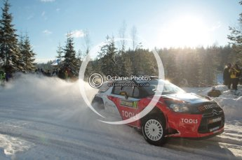 ©  North One Sport Limited 2011/Octane Photographic. 2011 WRC Sweden SS5 Vargassen lI, Friday 11th February 2011. Digital ref : 0141CB1D6986